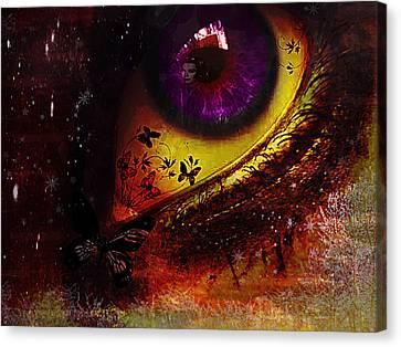 Fairy Eye Canvas Print by Yvon van der Wijk