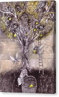 Fairy Harvest Canvas Print by Ladka Fruehaufova Prague Art
