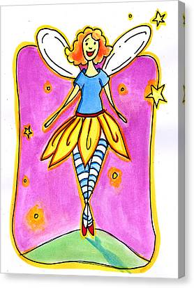 Fairy Note Canvas Print by Nada Meeks