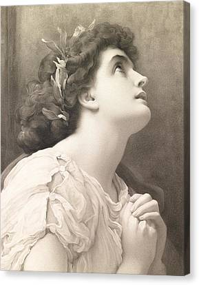 Faith Canvas Print by Frederic Leighton
