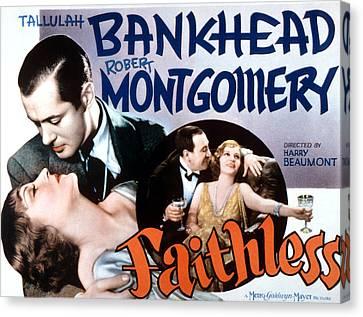 Faithless, Tallulah Bankhead, Robert Canvas Print by Everett