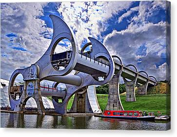 Falkirk Wheel Canvas Print by Wendy White