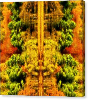 Canvas Print featuring the photograph Fall Abstract by Meirion Matthias