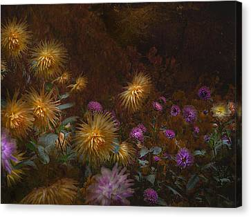 fall at Butchart Gardens Vancouver Island Canvas Print by Jeff Burgess