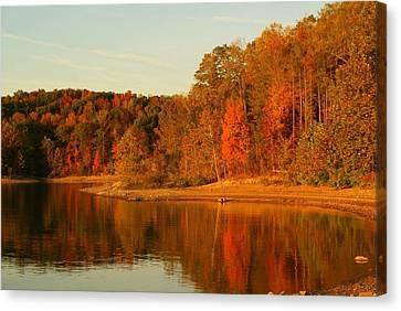 Fall At Patoka Canvas Print by Brandi Allbright