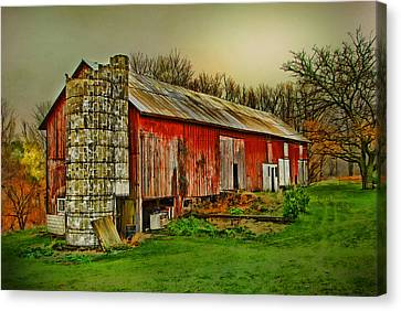 Canvas Print featuring the photograph Fall Barn by Mary Timman