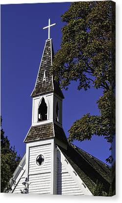 Canvas Print featuring the photograph Fall Chapel by Ken Stanback