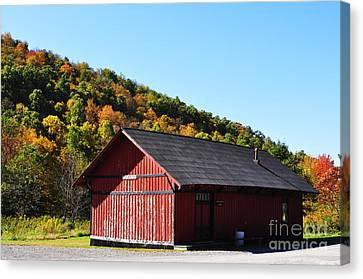 Fall Color Pickens West Virginia Canvas Print by Thomas R Fletcher