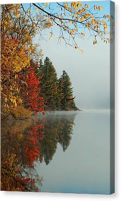 Fall Colors On Low's Lake Canvas Print