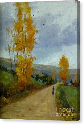 Fall Day Canvas Print by Victoria  Broyles