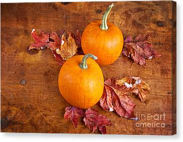 Canvas Print featuring the photograph Fall Decorative Pumpkins by Verena Matthew