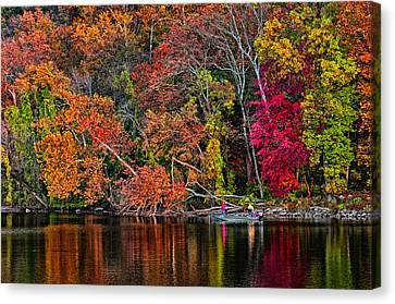 Fall Fishing Canvas Print by Boyd Alexander