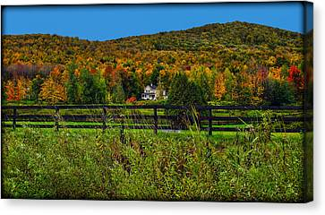 Fall Glory On The Other Side Of The Fence Canvas Print by Chantal PhotoPix