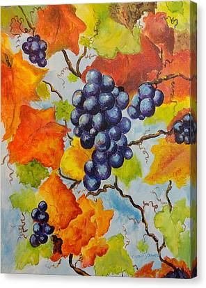 Fall Grapes Canvas Print by Carole Powell