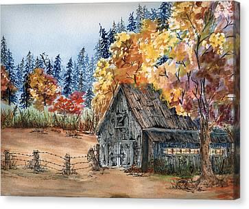 Fall Hide And Seek Canvas Print