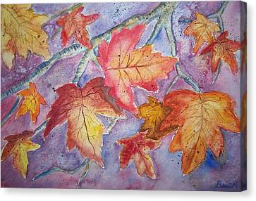Fall In Arkansas Canvas Print by Belinda Lawson