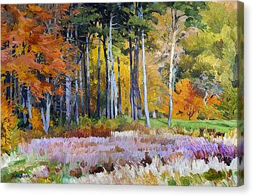 Fall In The Arboretum Canvas Print