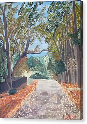Fall In Tyler Canvas Print by Evgeniya Sohn Bearden