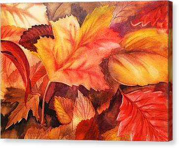 Fall Leaves Canvas Print by Irina Sztukowski