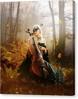 Melody Canvas Print - Fall Melody by Mary Hood