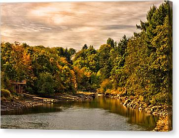 Fall - Nanaimo Habour Canvas Print by Long Nguyen