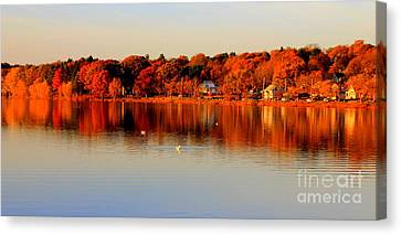 Fall On Horn Pond Canvas Print