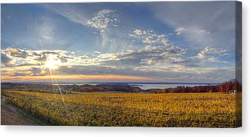 East Bay Canvas Print - Fall On Old Mission Peninsula by Twenty Two North Photography