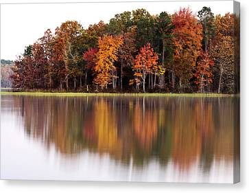 Fall Reflection Canvas Print by CWellsPhotography