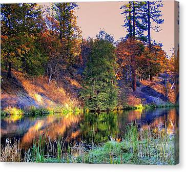 Canvas Print featuring the photograph Fall River by Irina Hays