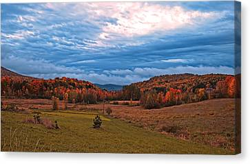 Fall Scenery In The Canadian Countryside Canvas Print by Chantal PhotoPix