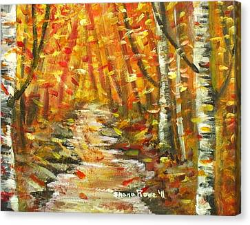 Canvas Print featuring the painting Fall by Shana Rowe Jackson