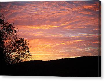 Leave Canvas Print - Fall Sunrise by Metro DC Photography
