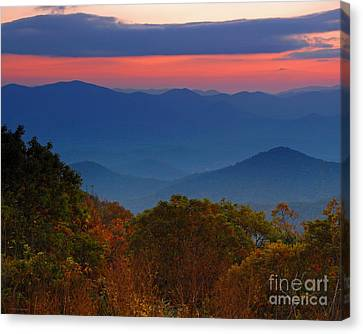 Fall Sunset Sky At Brasstown Bald Georgia Canvas Print
