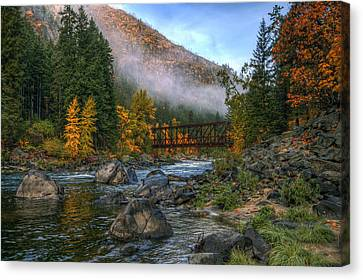 Fall Up The Tumwater Canvas Print