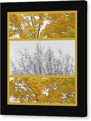 Fall Wind Triptych Canvas Print by Steve Ohlsen