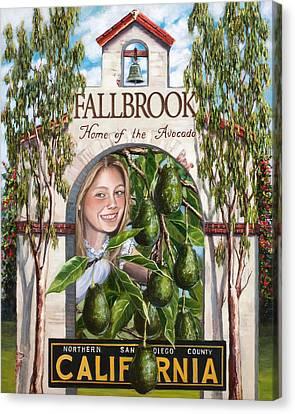 Fallbrook Avos Canvas Print by Lisa Reinhardt