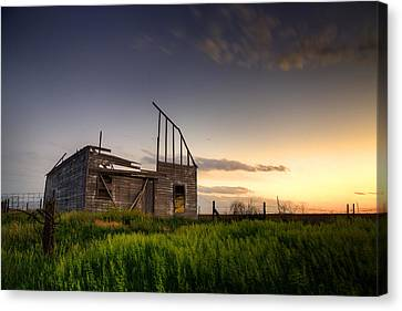Fallen Barn Canvas Print by Thomas Zimmerman