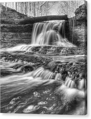 Canvas Print featuring the photograph Fallen Bridge by Coby Cooper