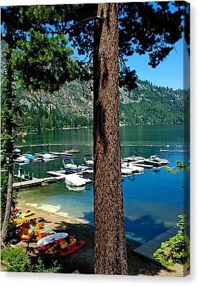 Fallen Leaf Lake Lake Tahoe Canvas Print by LeeAnn McLaneGoetz McLaneGoetzStudioLLCcom