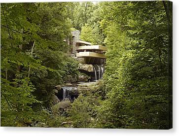 Fallingwater A Modernist House Canvas Print by Everett