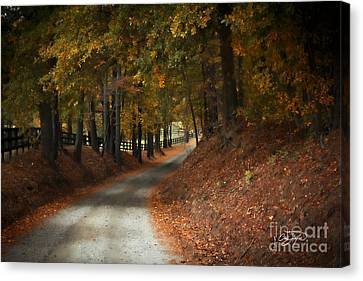 Fall's Fast Arrival Canvas Print