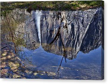 Falls Pool Reflection Canvas Print by Garry Gay