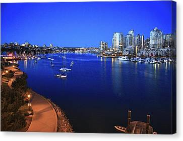 Canvas Print featuring the photograph False Creek by Scott Holmes