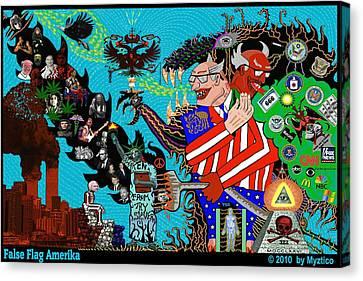 False Flag Amerika Canvas Print