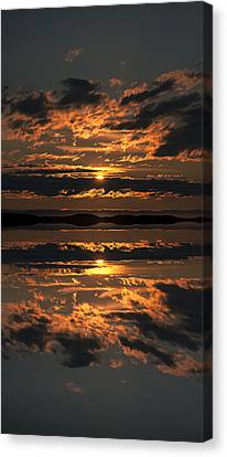 False Sunset Canvas Print by Andy Astbury