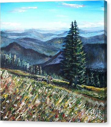 Family Hike Canvas Print by Shana Rowe Jackson