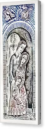 Family Canvas Print by Milen Litchkov