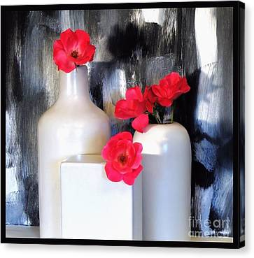Family Of Roses Canvas Print by Marsha Heiken