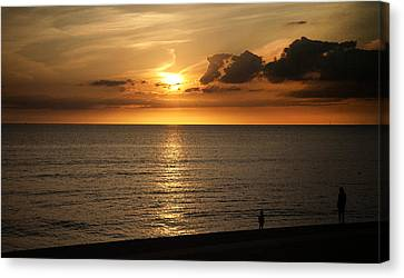 Family Sunset Canvas Print by Aetherial Pictography