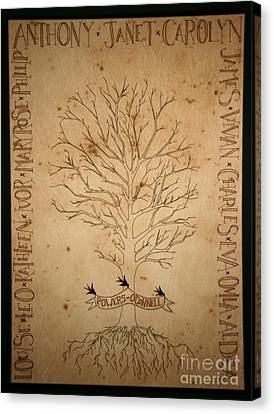 Family Tree Tapestry Canvas Print